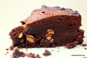 fudgy Brownie mit Erdnüssen