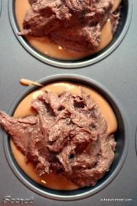 Nutella-Brownies im Rohzustand