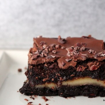 Schokoladiges zu Weihnachten: schlotzige Marzipan-Brownies
