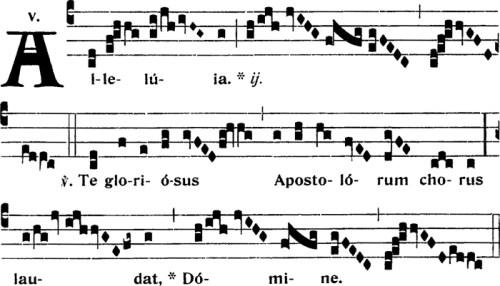 Alleluia de la Fête de saint Barthélémy