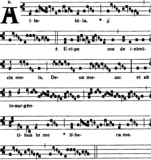 Alleluia du IXème dimanche apres la Pentecote