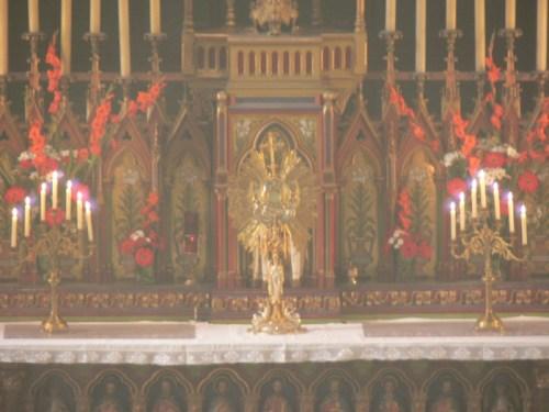 ostensoir a la Fete-Dieu 2007