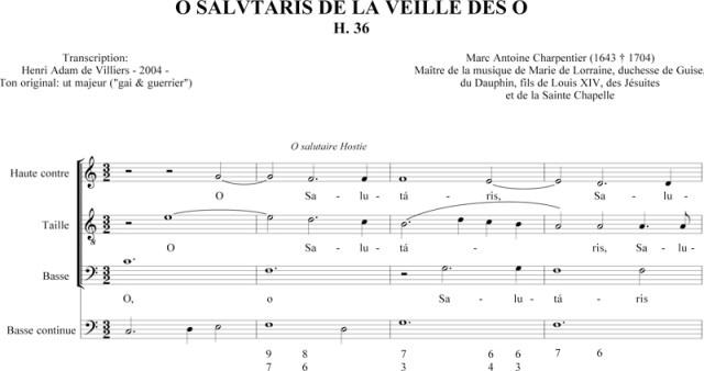 Marc-Antoine Charpentier - O salutaris Hostia (H. 36)