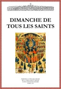 Dimanche de tous les saints