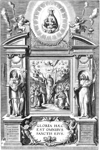 Page de garde d'un martyrologe romain