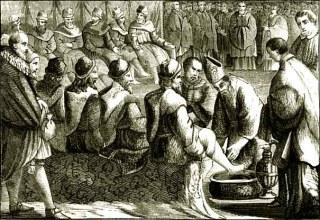 Lavement des pieds par l'évêque - Mandatum - Cérémonial des évêques
