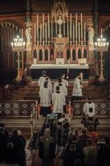 Requiem solennel pour Louis XVI du 21 janvier 2013 : l'arrivée de la procession au chœur