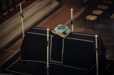 Requiem solennel pour Louis XVI du 21 janvier 2013 : le catafalque représentant le Roi