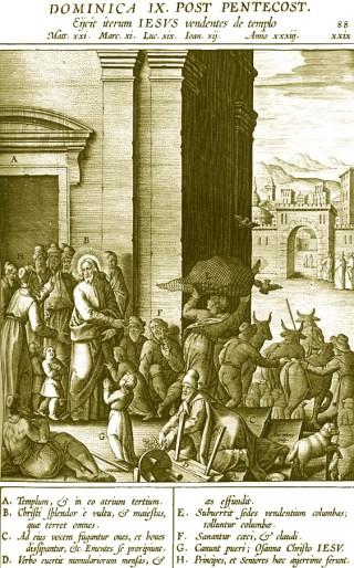 IXème dimanche après la Pentecôte - Jésus chasse les marchands du Temple