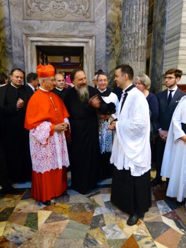 A la sacristie