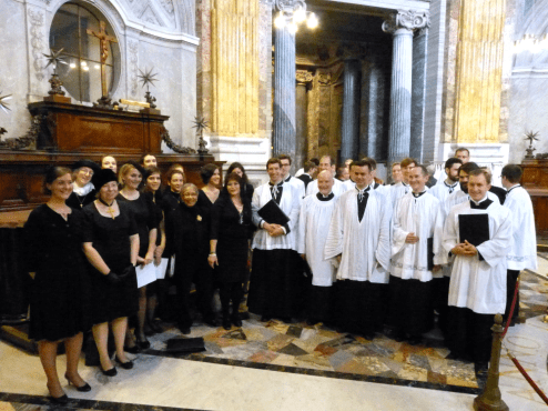 Dans la sacristie de Saint-Pierre de Rome