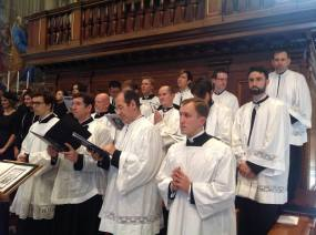 Les hommes de la Schola Sainte Cécile