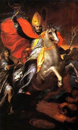 Giovanni Ambrogio Figino, saint Ambroise expulse les Ariens, 1590