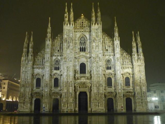 Le dôme de Milan au petit matin