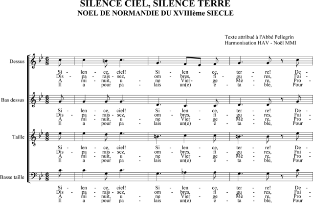 Silence ciel, silence terre - Noël de Normandie