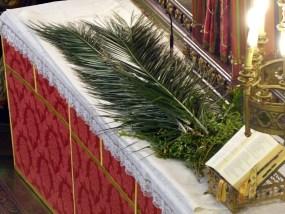 Rameaux 2014 - 4 - les palmes sur l'autel