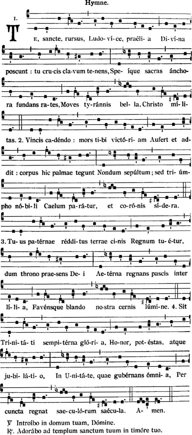 Hymnes des vêpres de saint Louis - rythme traditionnel