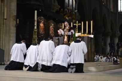 11 - Messe de départ célébrée par M. l'Abbé Iborra dans Notre-Dame-de-Paris - vigile de la Pentecôte - Ecce Agnus Dei
