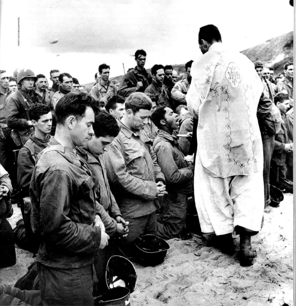 6 juin 1944 - 6 juin 2014 - 70ème anniversaire du débarquement - la messe de toujours dans le débarquement en Normandie
