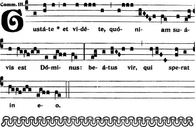 VIIIème dimanche après la Pentecôte - Communion - Graduale Romanum 1905