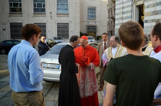 11 - Avec le cardinal Bagnasco, archevêque de Gênes, à Santo Stefano