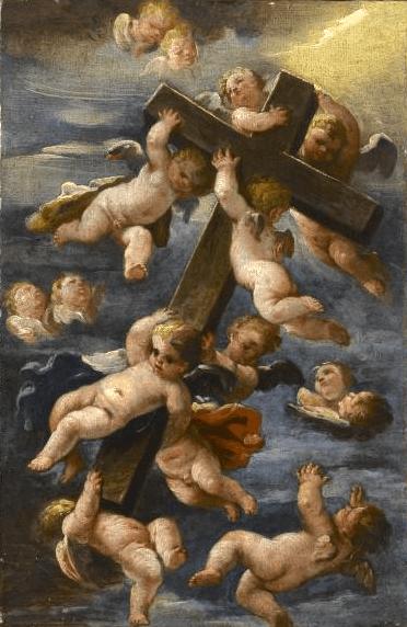 L'Exaltation de la Sainte Croix par Luigi Garzi, Rome, 1638
