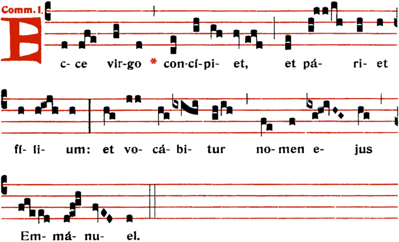 Communion - Ecce virgo - ton 1