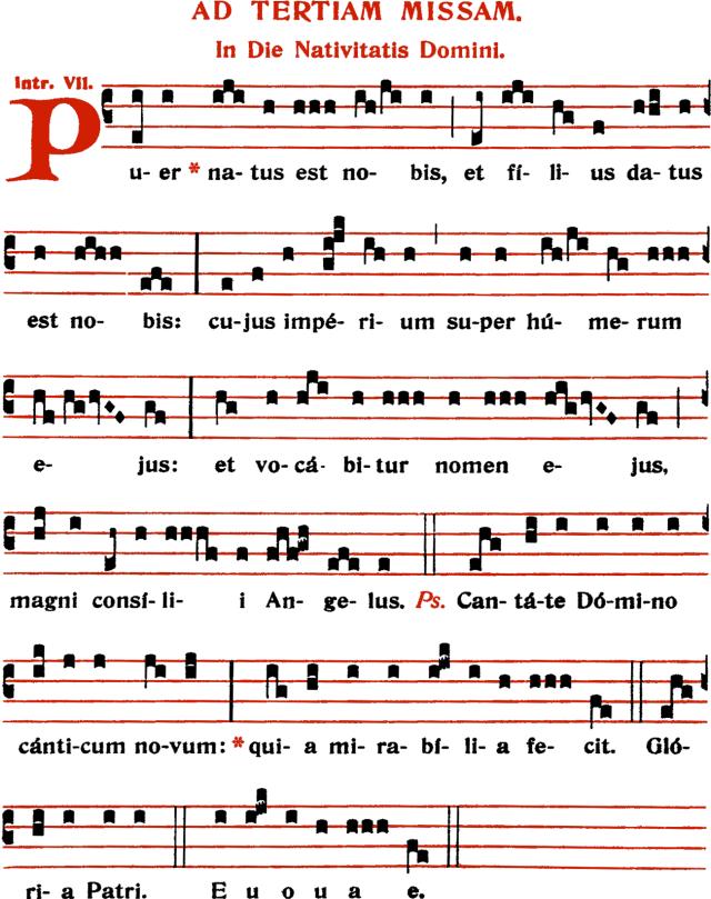 Introït - Puer natus est nobis - ton 7
