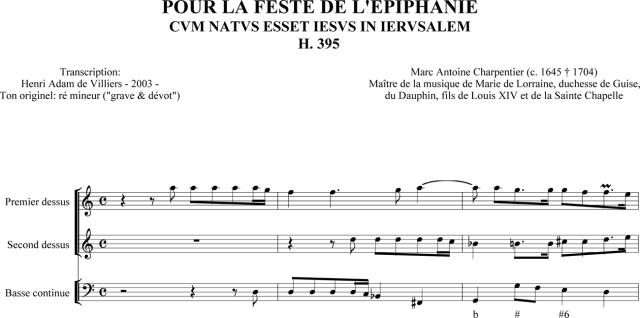 Marc-Antoine Charpentier - Pour la feste de l'Epiphanie H 395