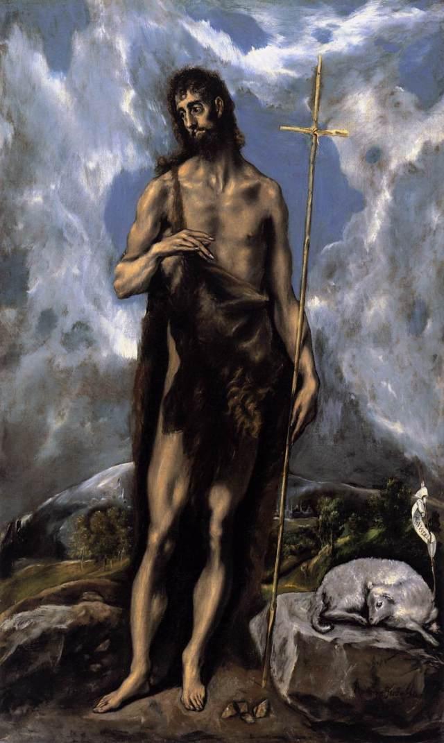 Saint Jean Baptiste par Le Greco