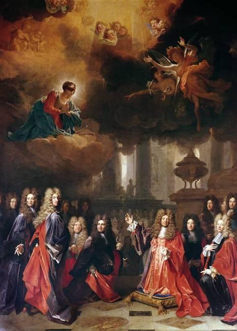 Nicolas de Largillière - ex-voto peint en 1695 - Sainte Geneviève intercédant pour faire tomber la pluie.