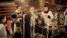 Requiem pour Louis XVI en 2014 - encensement de l'absoute