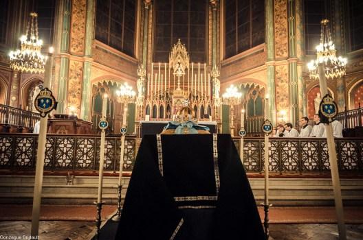 Requiem pour Louis XVI en 2014 - vue du chœur depuis la nef