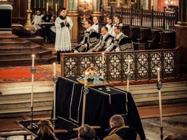 Requiem pour Louis XVI en 2014 - vue du chœur et du catafalque