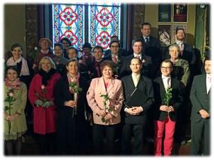 Lætare 2015 - La Schola Sainte Cécile après la messe du IVème dimanche de Carême