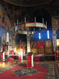 Chevetogne - l'église haute byzantine dédiée à l'Exaltation de la sainte Croix
