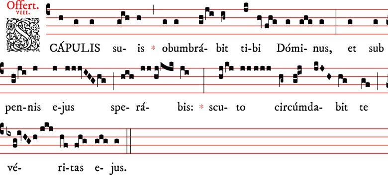 Offertoire - Scapulis suis - ton 8