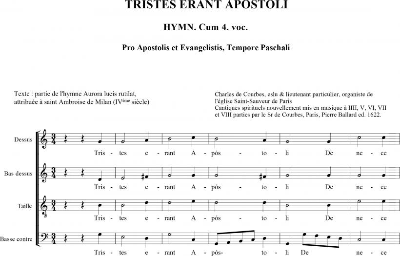 Charles de Courbes - Tristes erant Apostoli
