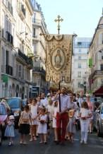 Procession du Saint-Sacrement - la tête de la procession