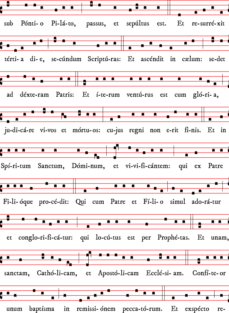 Credo - messe I - rit dominicain