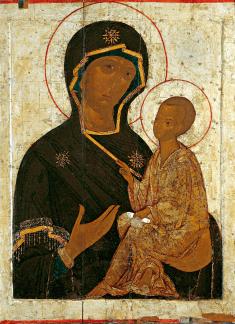 Icône de Tikhvine - copie ancienne