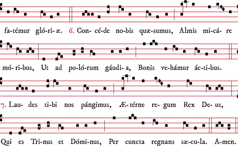 Hymne O nata lux de lumine pour la fête de la Transfiguration composé par Pierre le Vénérable, abbé de Cluny