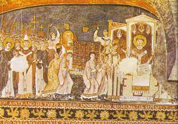 Saint Cyril et Saint Méthode apportant les restes de Saint Clément à Rome