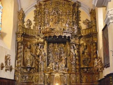 Champagny-en-Vanoise, église saint-Sigismond, le retable majeur.