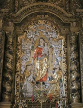 Termignon, église Notre-Dame-de-l'Assomption, retable du rosaire.