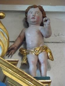 Saint-Martin-de-Belleville, église Saint-Martin, ange.