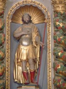 Tignes, église Saint-Jacques : retable majeur, saint Jacques.