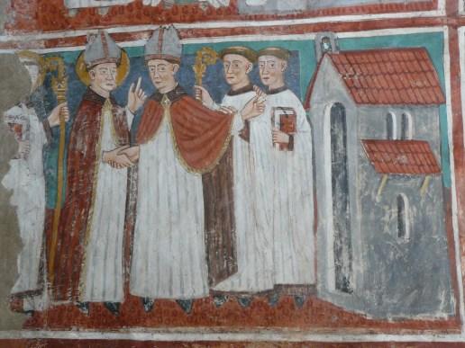 Vulmix - St Grat accueilli par le clergé.