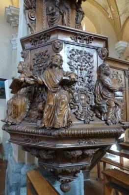 Chaire de l'église Saint-Grat de Conflans.