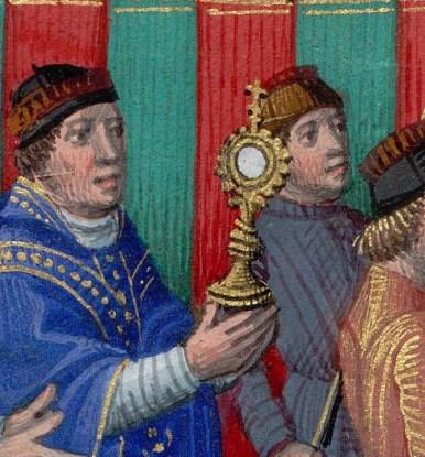 Procession de la Fête-Dieu à Saint-Germain-L'Auxerrois : l'ostensoir.